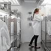 Researcher using a Weiss Technik walk-in-climate-rooms-for-plants-insects