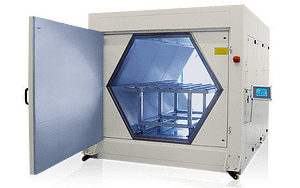 Large industrial microwave oven by Weiss Technik